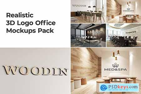 3D Logo Office Mockups Pack Vol 2
