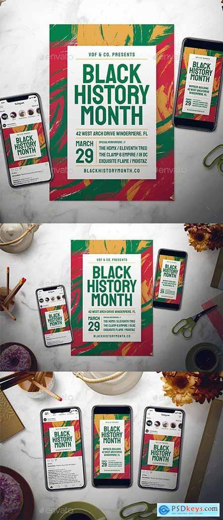 Black History Month Flyer Set 23187632