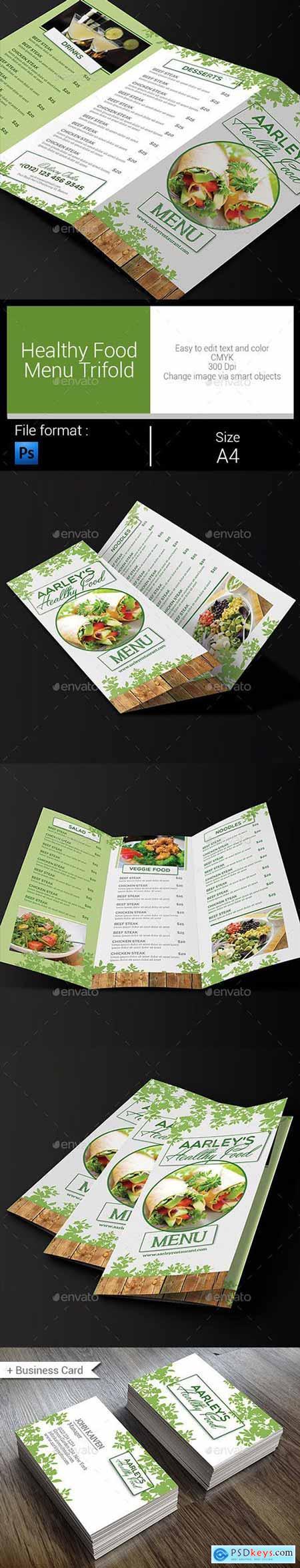 Healthy Food Menu Trifold
