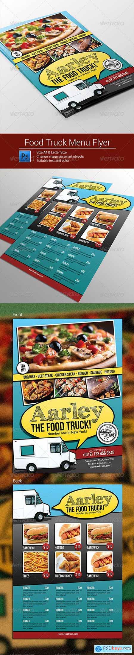 Food Truck Menu Flyer 8399366