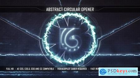 Videohive Abstract Circular Opener 15894409 After Effects Project