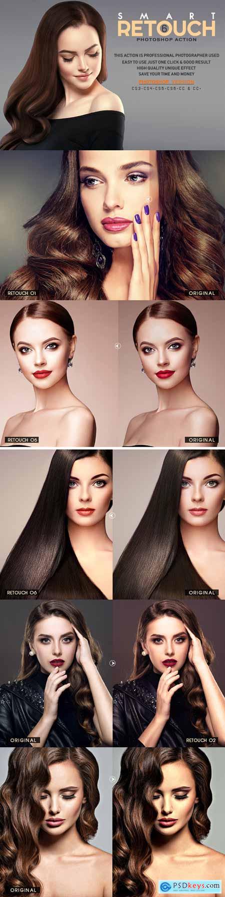 6 Smart Retouch Photoshop Action 3524869