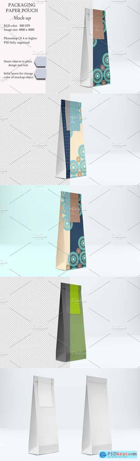 Paper pouch mockup PSD mockup 3386633