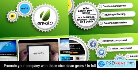 Videohive Clean Gear Company Promotion 2526856 After Effects Projects