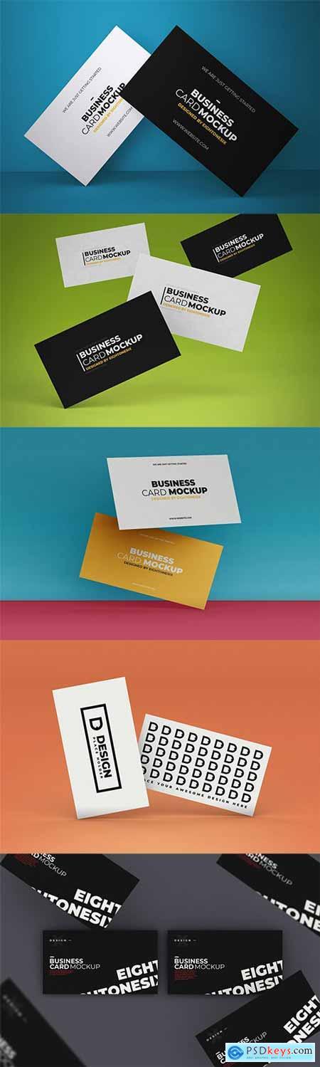 5 Business Card Mock-up Templates