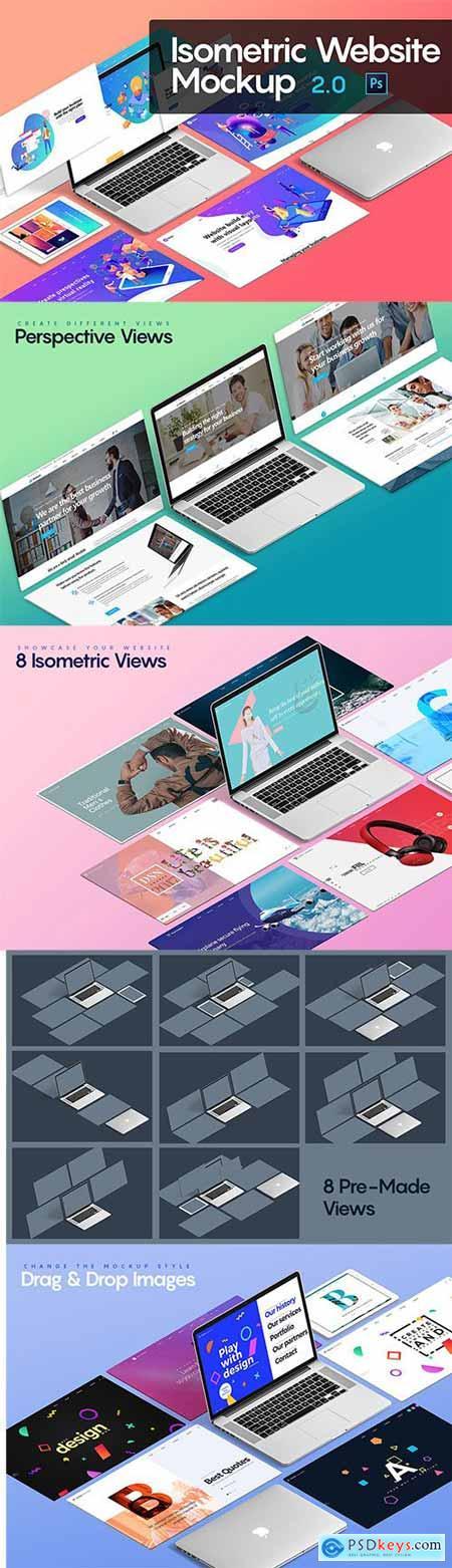 Isometric Website Mockup 2.0