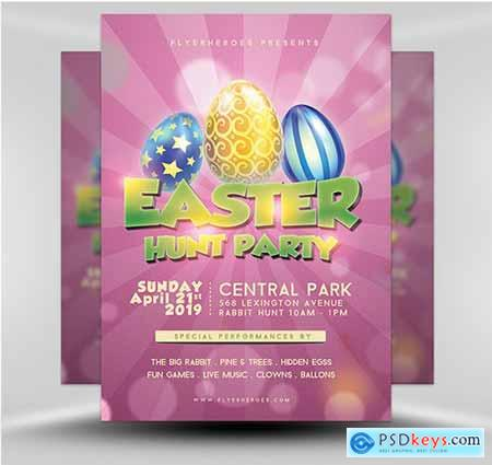 Easter Party Flyer 1B