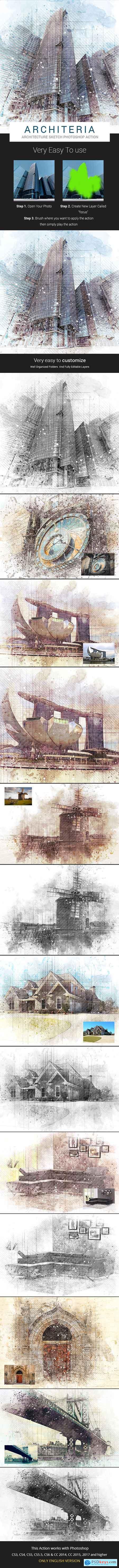 Architeria - Architecture Sketch Photoshop Action 21433278