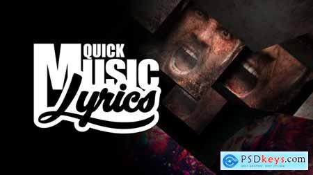 Quick Music Lyrics 19605116 After Effects Projects