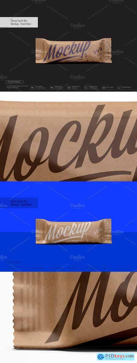 Kraft Snack Bar Mockup - Front View 3356507