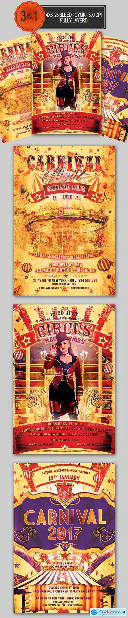 Circus and Carnival Flyer Bundle 23150102