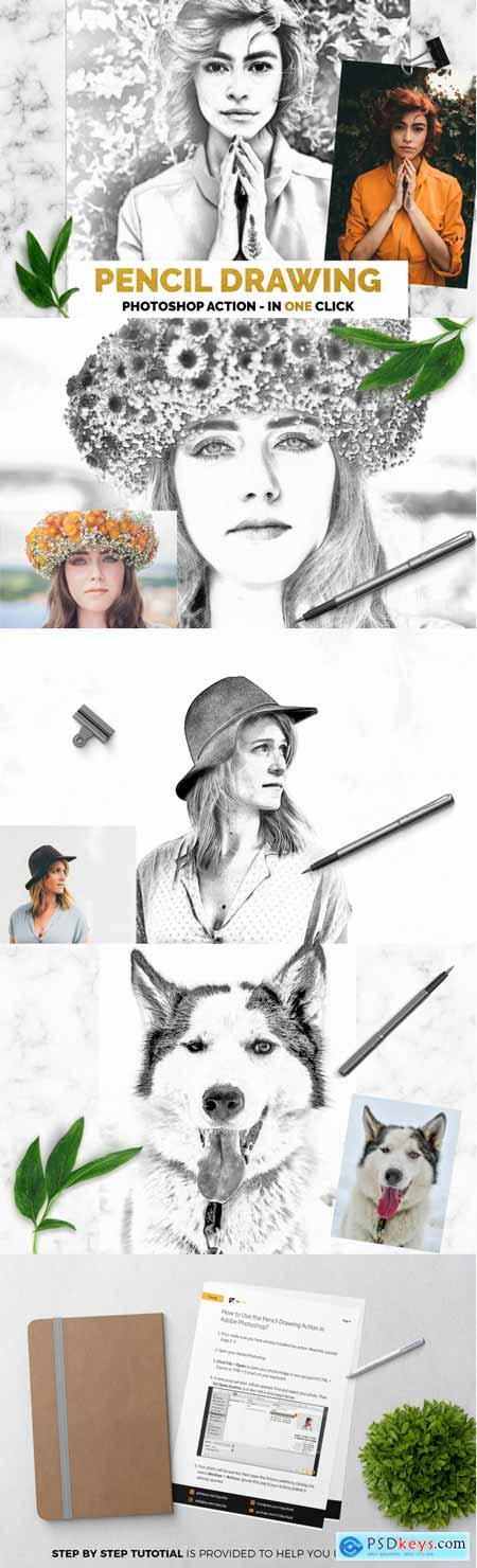 Pencil Drawing Photoshop Action 3524700