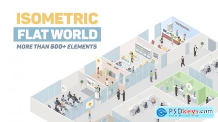 Videohive Isometric Flat World 23044315 After Effects Projects