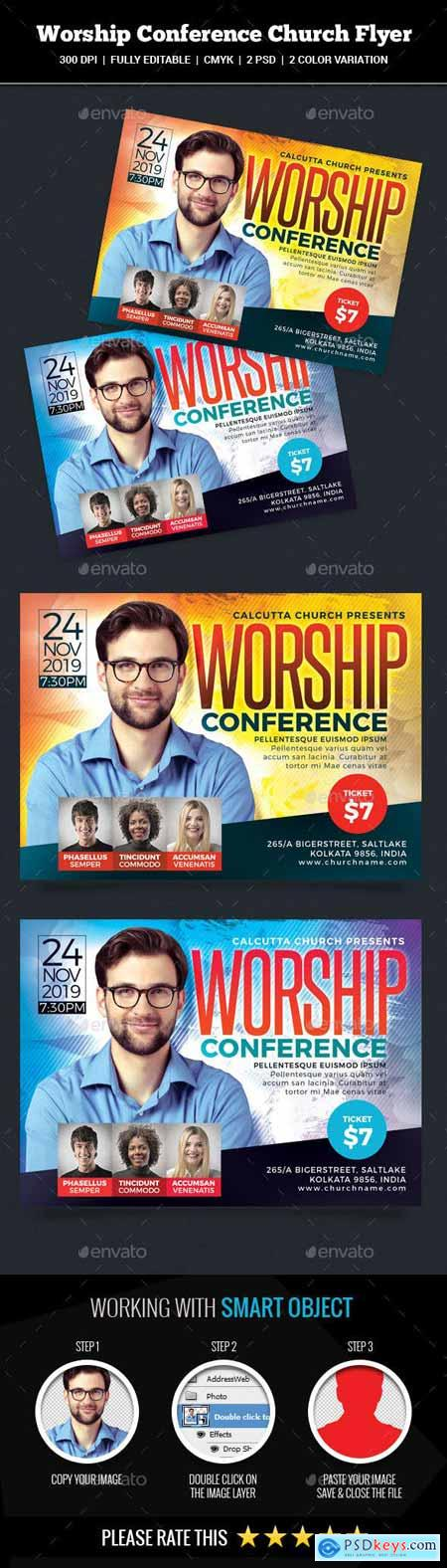 Worship Conference Church Flyer 22337102