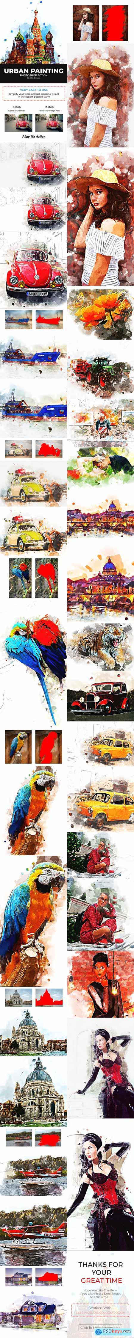 Urban Painting Photoshop Action 22230566