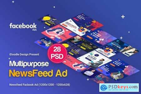 NewsFeed Facebook Multipurpose, Business Banners
