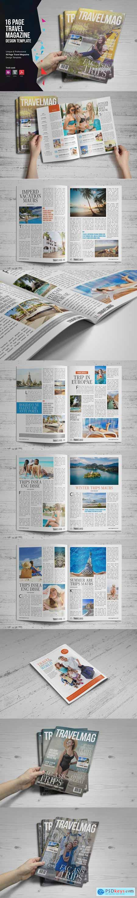 Travel Magazine Design 2744857