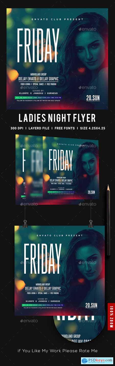 Ladies Night Club Flyer 23151168