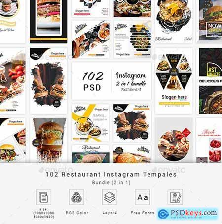 Restaurant Instagram Bundle Social Media 23152960