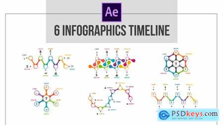 Videohive 6 Infographics Timeline