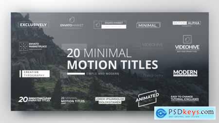 Videohive Clean Minimal Titles