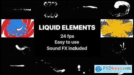 Videohive Liquid Elements And Transitions 22356287 Free After Effects Projects