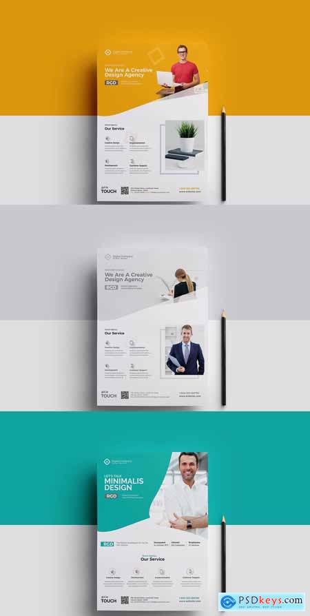 Corporate Flyer PSD Template VO2