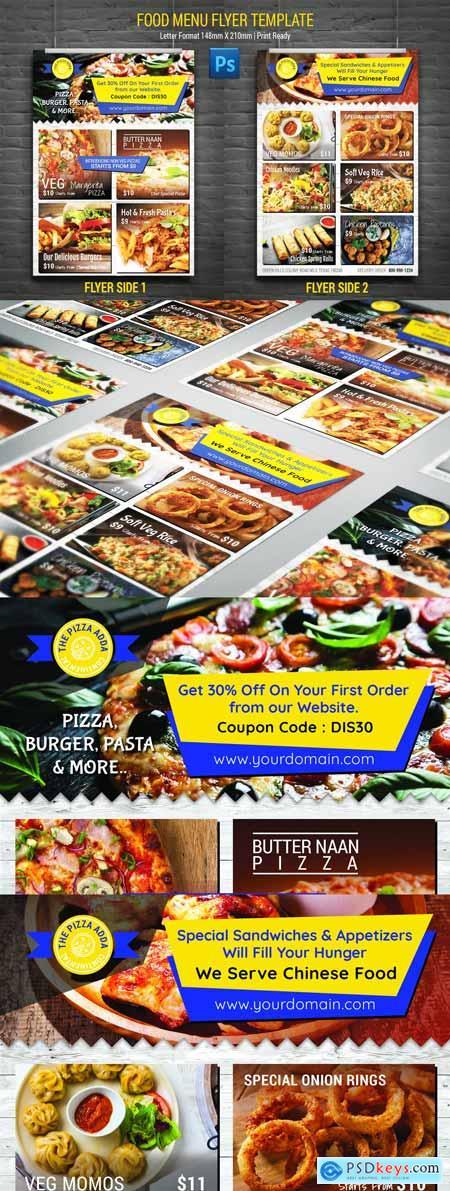 Food Menu Card Flyer Template