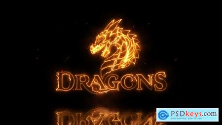 Videohive Dragon Fire Logo