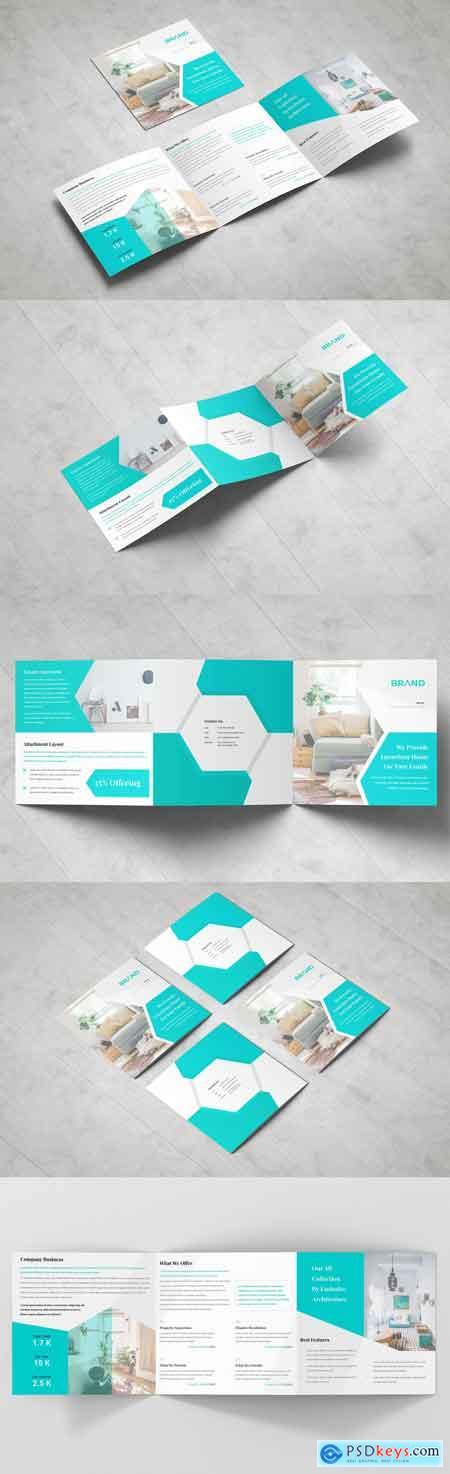 Business Square Tri fold Brochure