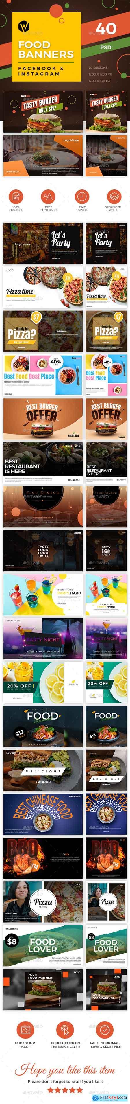 40 Food Banners - Facebook & Instagram 23188414