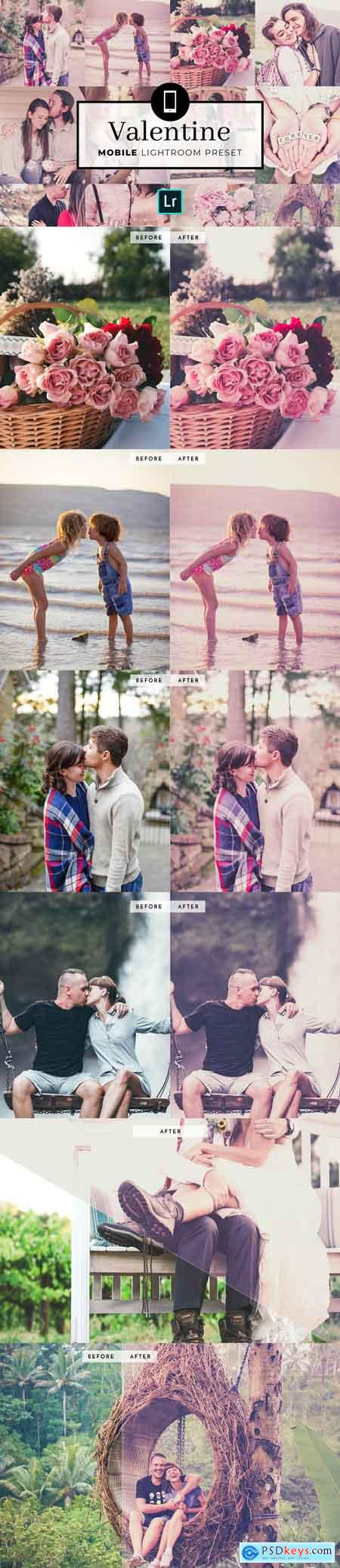 Mobile Lightroom Preset Valentine