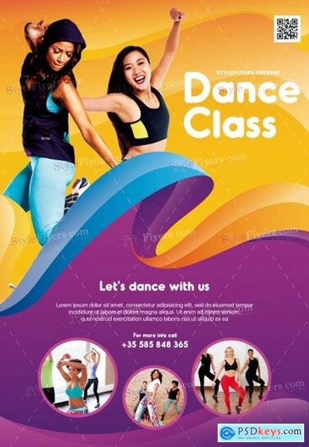 Dance Class PSD Flyer Template