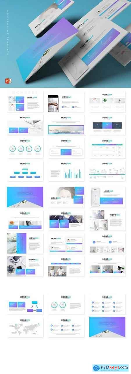 Monaux - Powerpoint, Keynote, Google Sliders Templates