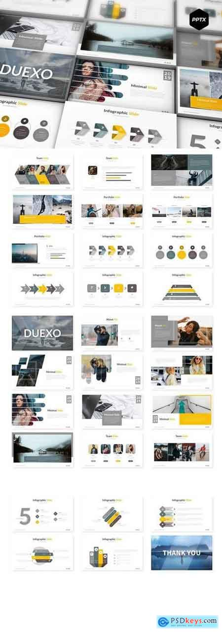 Duexo - Powerpoint, Keynote, Google Sliders Templates