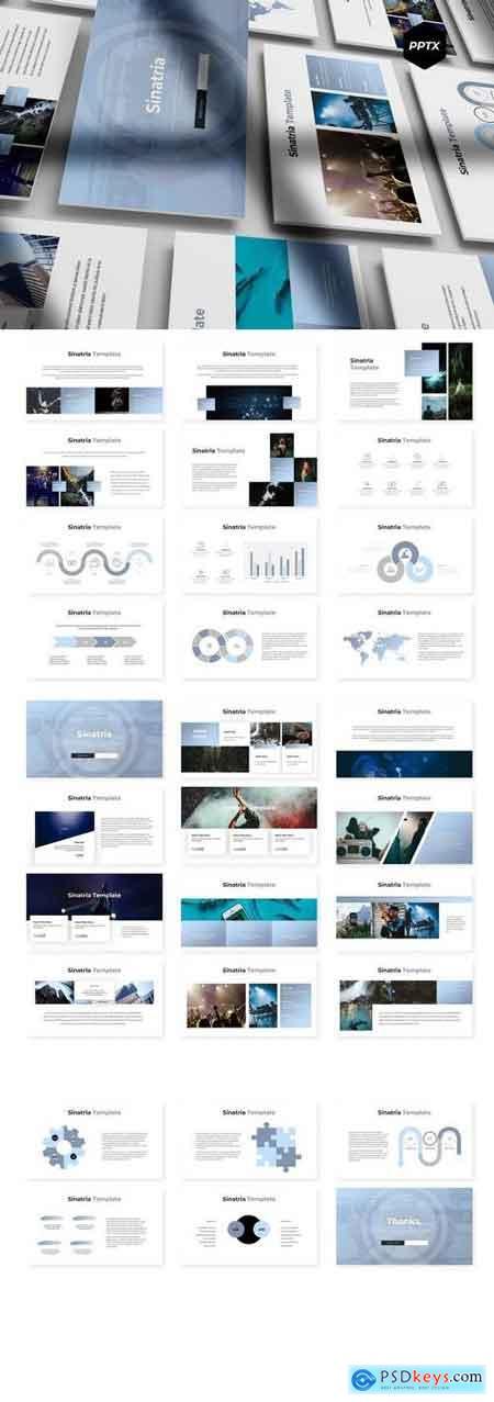 Sinatria - Powerpoint, Keynote, Google Sliders Templates