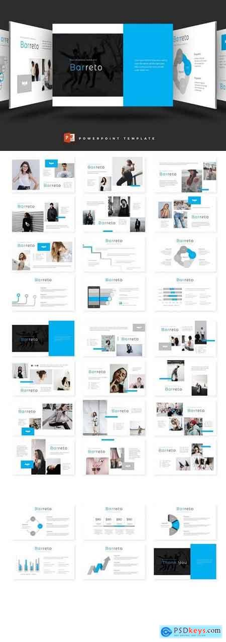 Barreto - Powerpoint, Keynote, Google Sliders Templates
