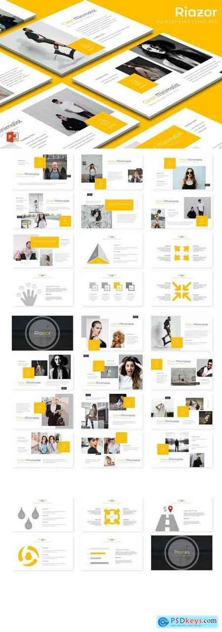 Riazor - Powerpoint, Keynote, Google Sliders Templates