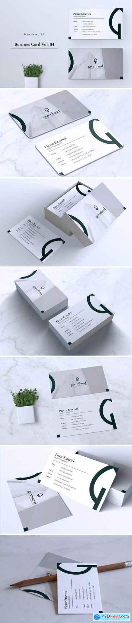 Minimalist Business Card Vol. 04