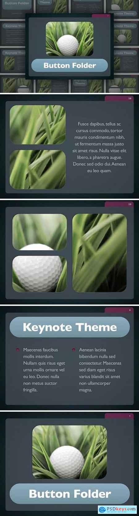 Button Folder Keynote Template