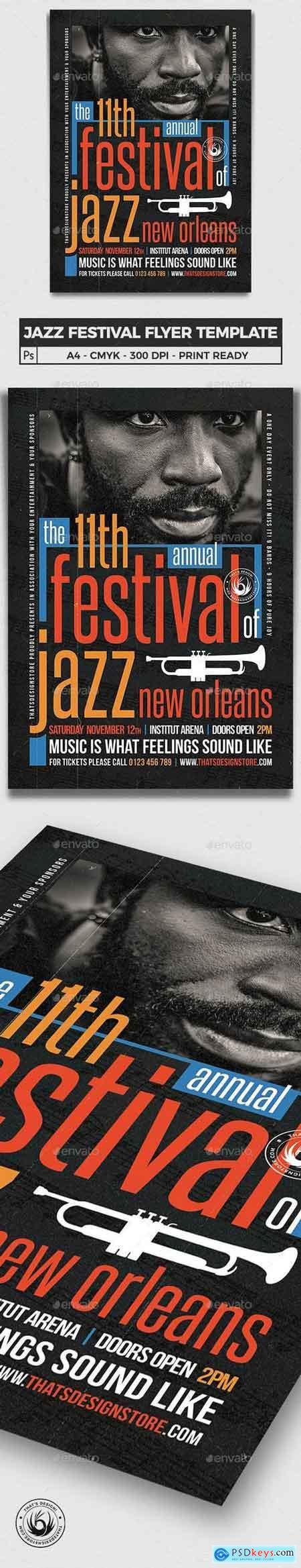 Graphicriver Jazz Festival Flyer Template V10