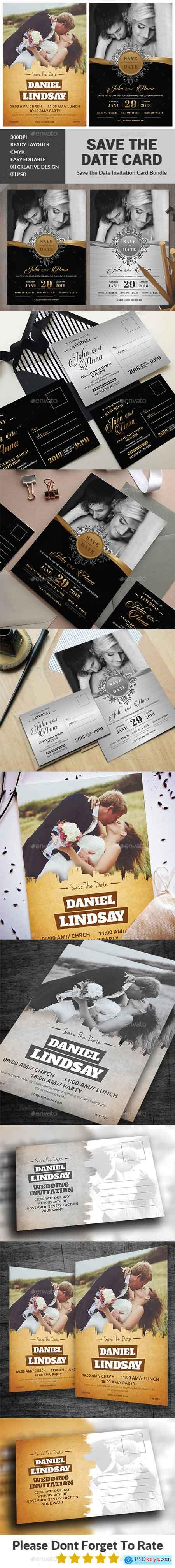 GraphicRiver Wedding Invitation Card Bundle