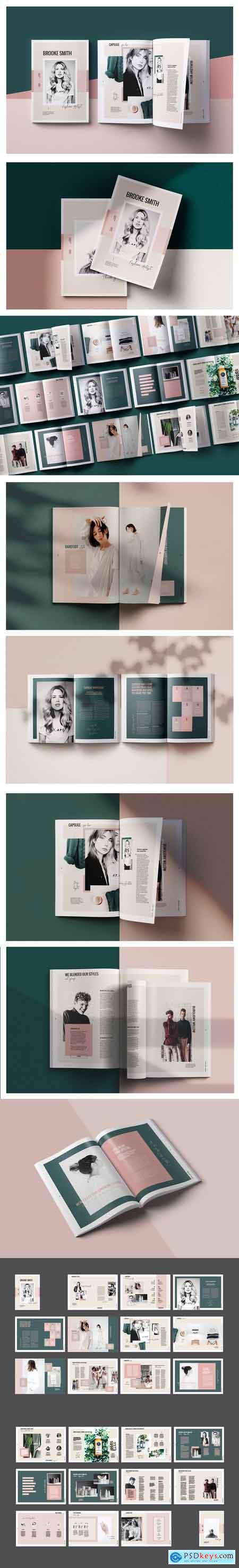 CreativeMarket Brooke Smith Magazine Template