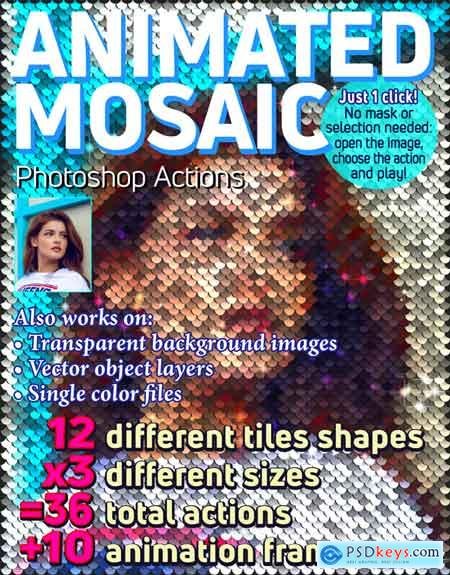 Graphicriver Animated Mosaic Photoshop Actions