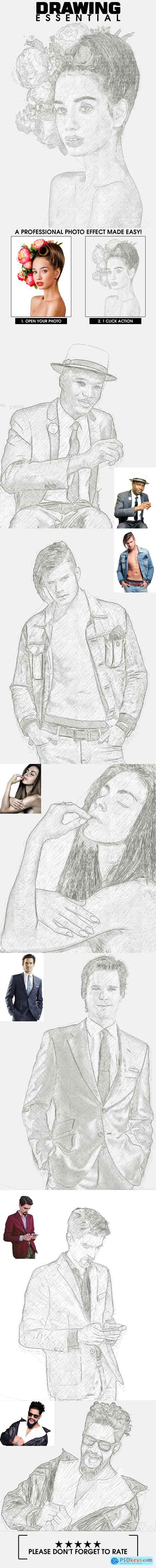 Graphicriver Drawing Essential Photoshop Action