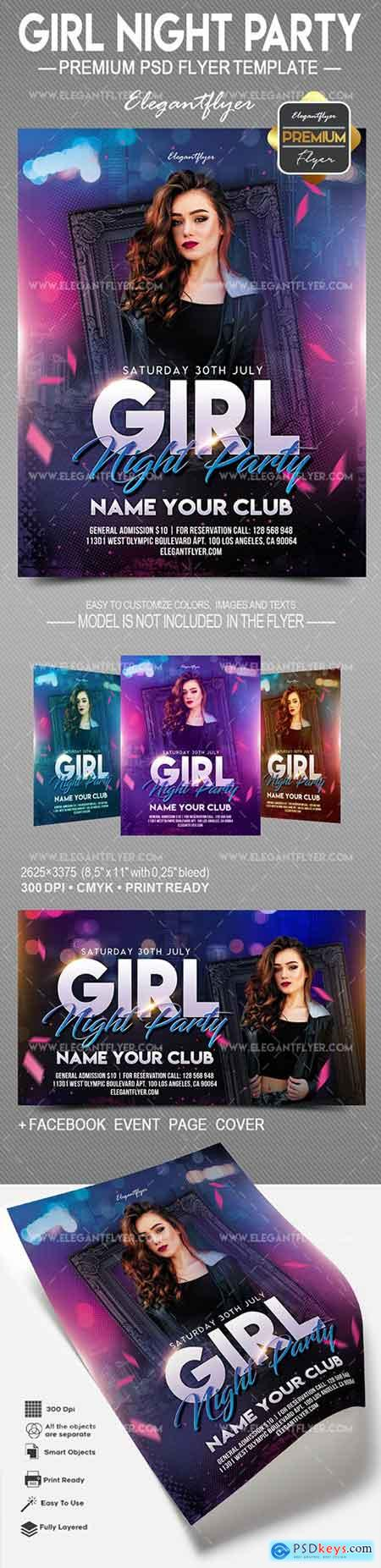 Girl Night Party – Flyer PSD Template