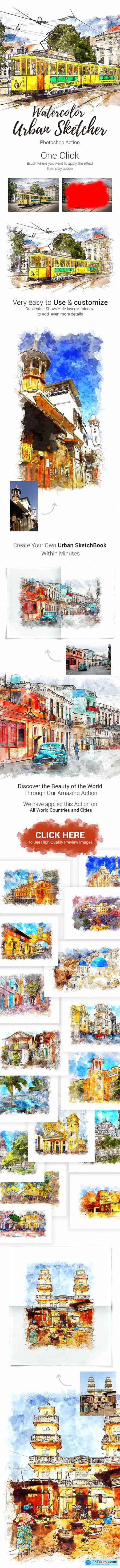 Graphicriver Realistic Urban Sketcher Photoshop Action 23175837
