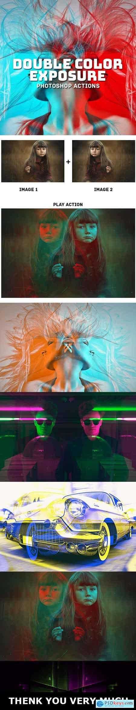 Graphicriver Double Color Exposure Actions Ver 1