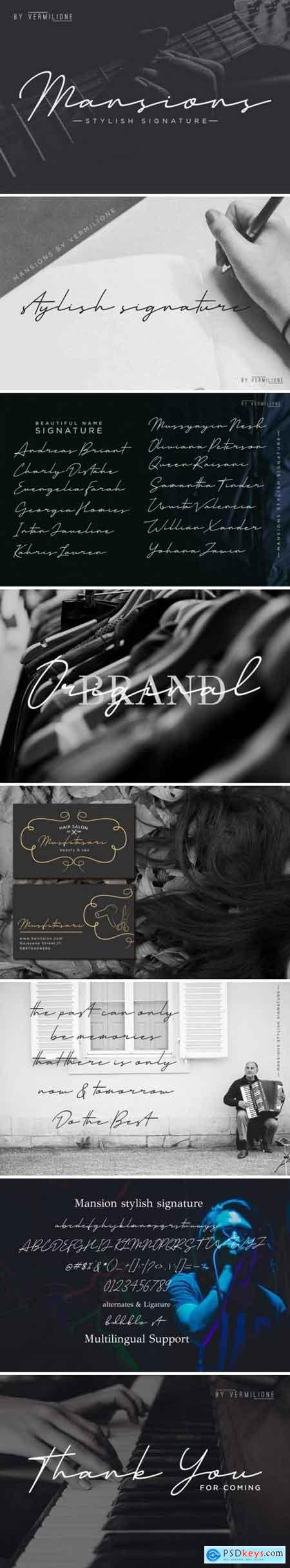 Creativemarket Mansions Stylish Signature