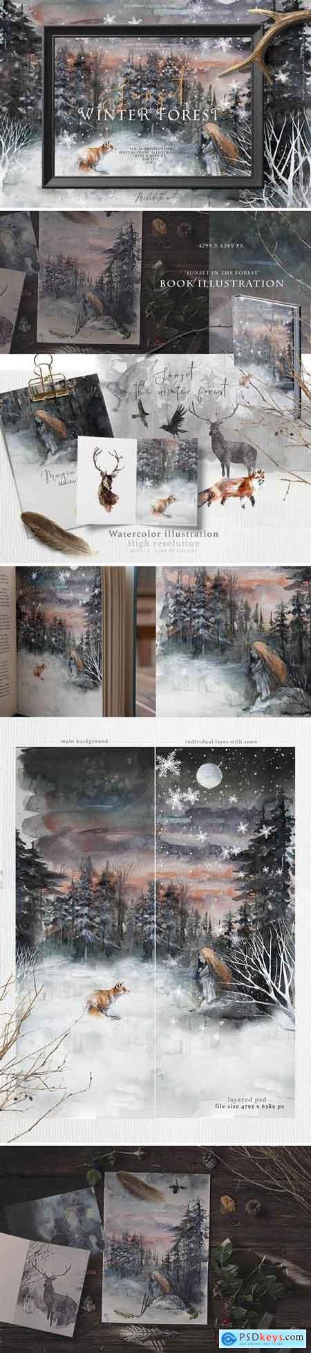 Book illustration psd, jpeg